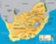 Map of Nudist Resorts in South Africa with links