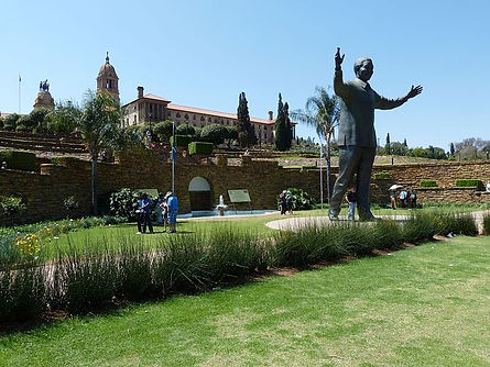 Nelson Mandela at the Union Buildings