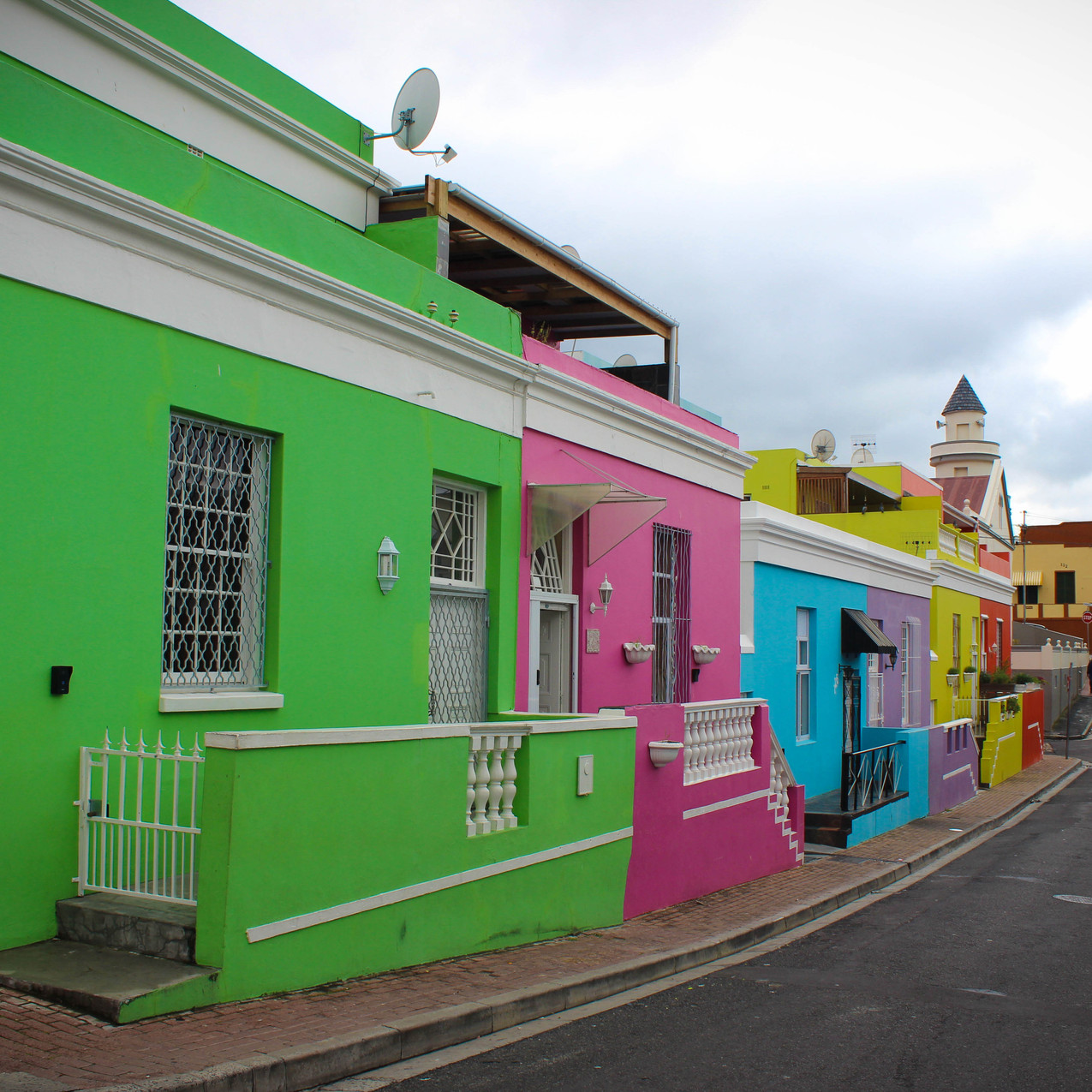 Colourful houses in the Bo-Kaap
