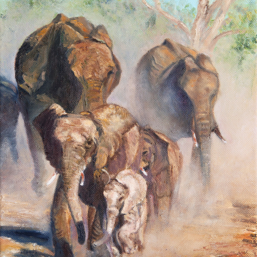 Big 5 oil painting.