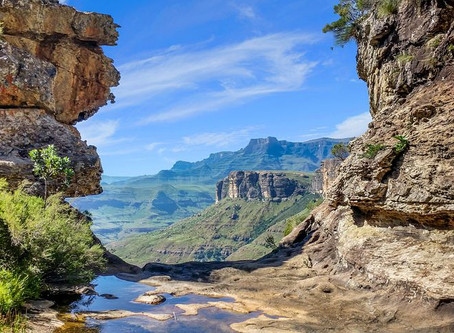 The source of South Africa's longest river, Mont-aux-Sources and the Royal Natal National Park.
