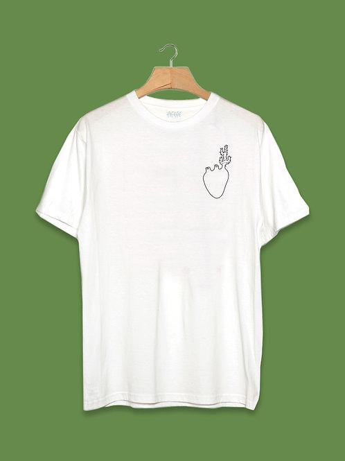 Camiseta Coração Cacto