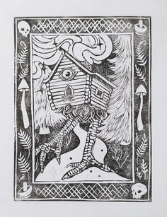 Witches Houses Lino