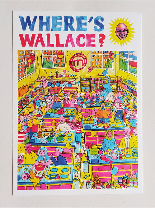 Where's Wallace Postcard
