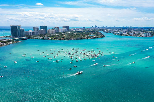 Miami Aerial Time-Lapse Photography