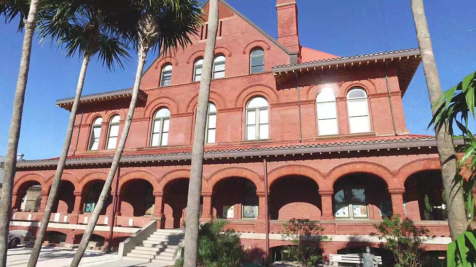 Custom House Key West Stock Video