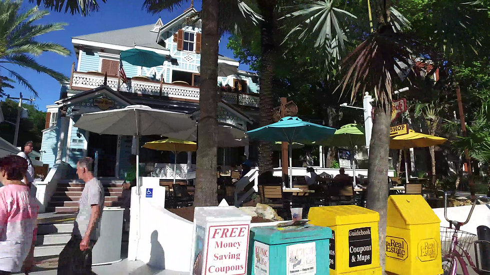 Duval Street Key West Stock Footage