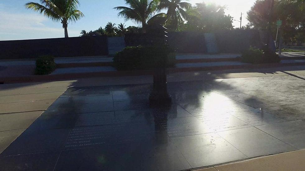 Key West AIDS Memorial Stock Video