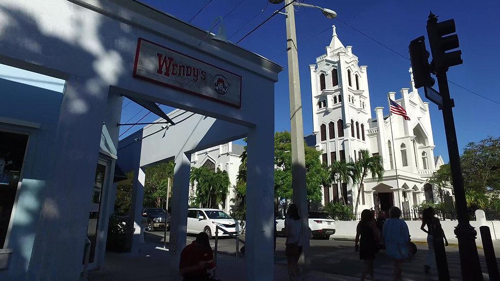 Duval Street Church Key West Stock Video