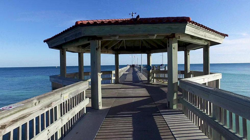 Casa Marina Dock Stabilized Key West Stock Video