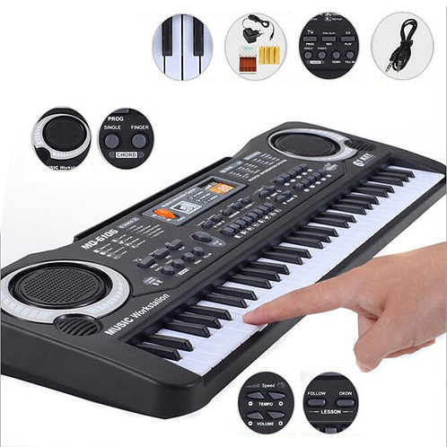 61 Keys Kids' Music Electronic Keyboard with Microphone