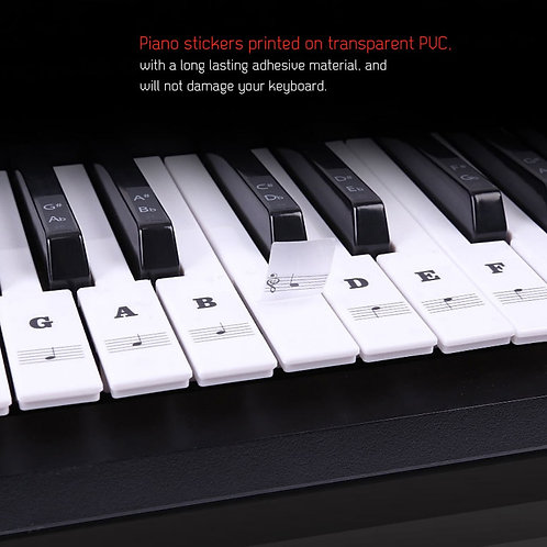 Piano Key Stickers (Black and White)