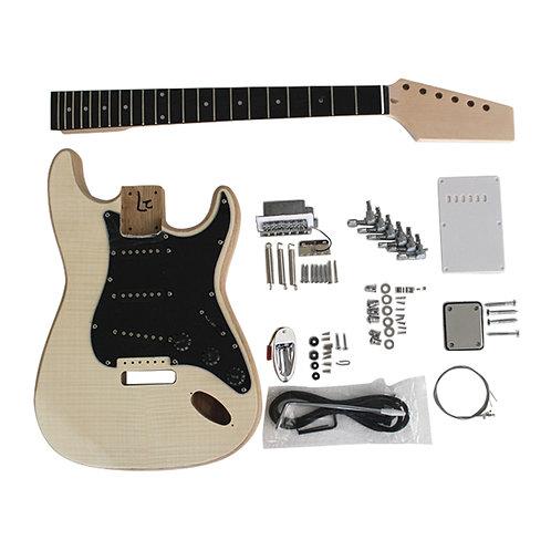 Custom DIY Strat Style Ash Body Ebony Fingerboard Electric Guitar Kits
