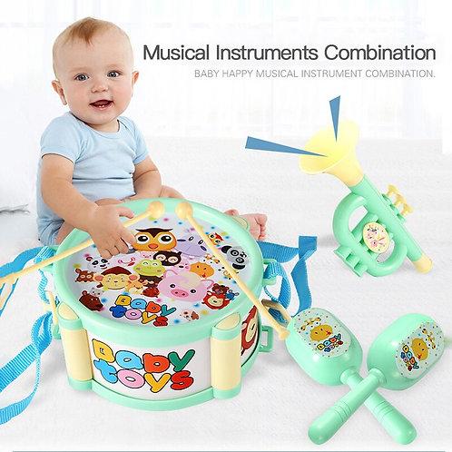 Kids Drum Trumpet Toy Music Band Kit