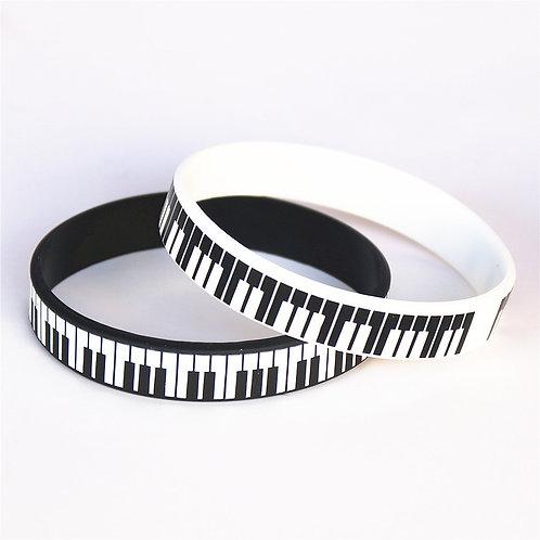 Silicone Piano Wristband