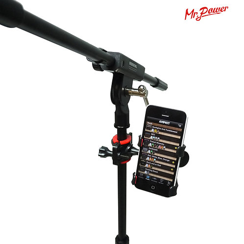 Microphone Stand with Phone Holder