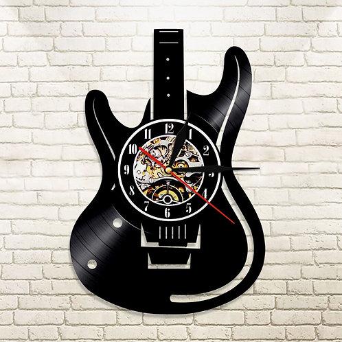 Guitar Vinyl Record Wall Clock