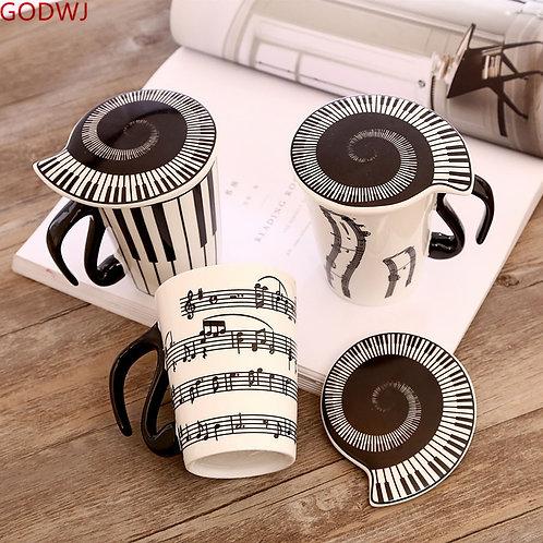 Music Coffee Mug with Lid