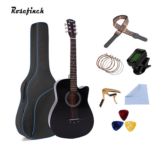 38 Inch Acoustic Basswood Guitar (Assorted)