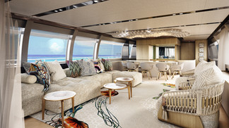 3D Interior Render for yachts