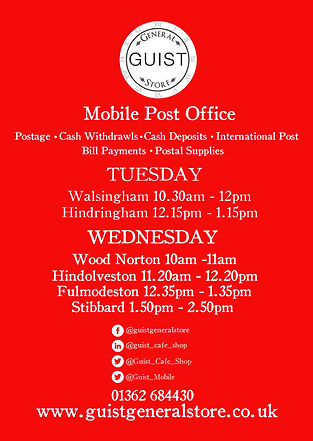 Guist Mobile Post Office Leaflet