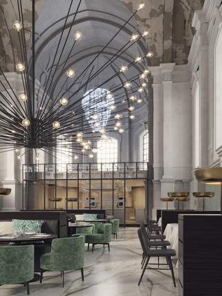 3D Rendering for Food Hall in Amsterdam