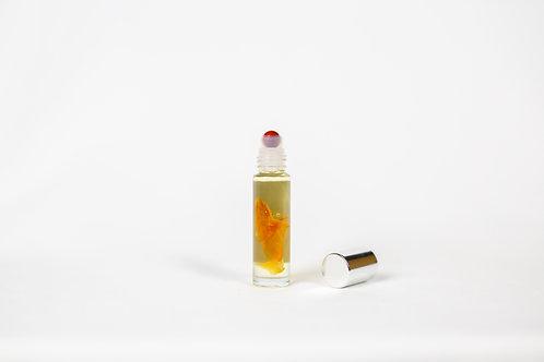 revive roller - grapefruit essential oil blend & red aventurine gemstone