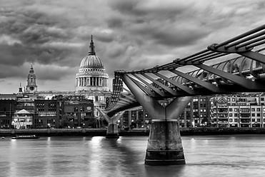St Pauls and Millenium Bridge - London