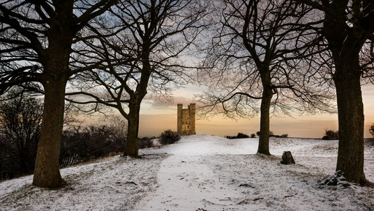 Broadway Tower Between Trees - Cotswolds