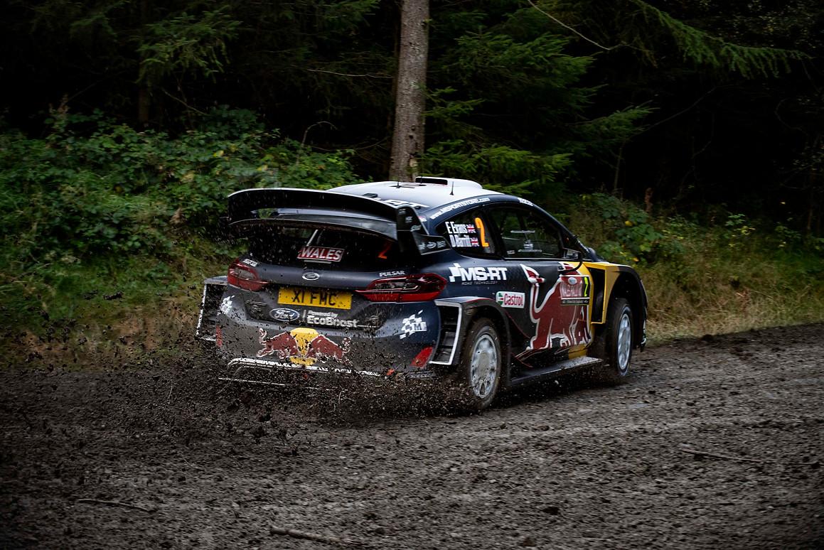 WRC Wales Clocaenog stage - Elfyn Evans