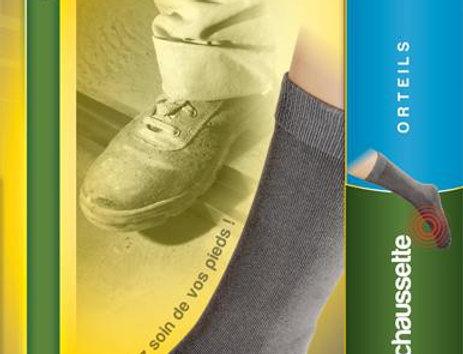 Chaussettes de protection contre l'agression de la coque sur les orteils