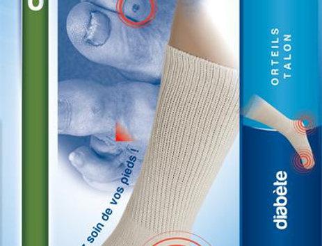 Chaussettes de protections orteils et talon