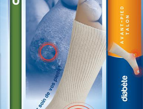 Chaussettes de protections avant pied et talon