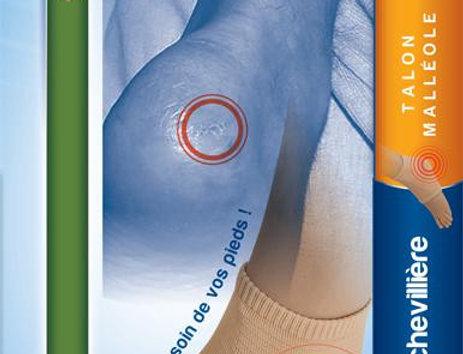 Chevillère de protection pour la prévention des escarres talon/malléoles
