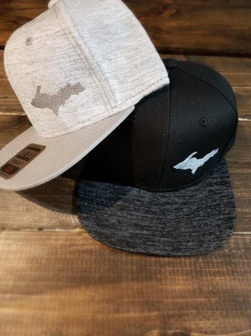 U.P Grey Jersey Knit Snapback