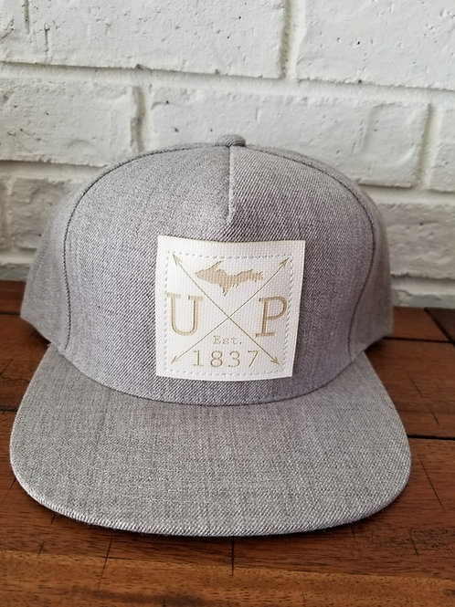1837 White Patch- Snap Back