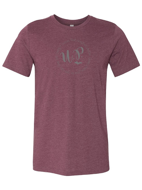 Heathered-Maroon Circle tee