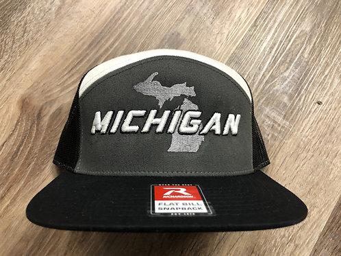 Raised Michigan Snapback