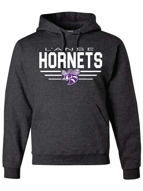 6. Black Heather Hornets Hoodie