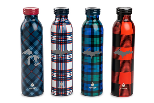 Stainless Steel Plaid Bottles (20 oz.)