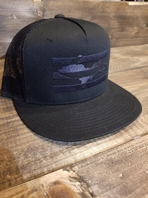 Black U.P Flag hat