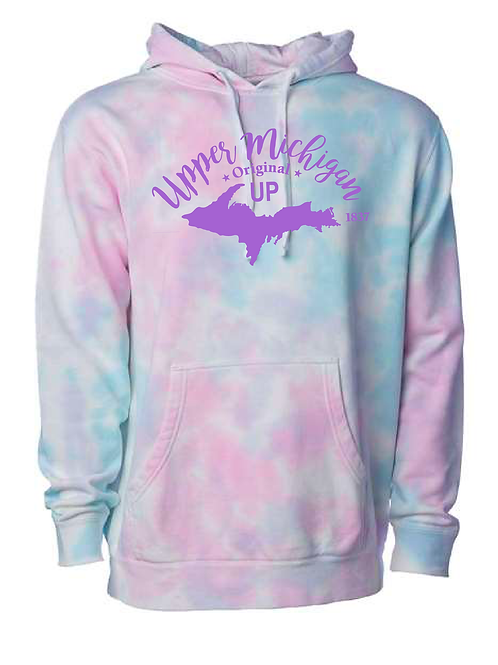 Cotton-Candy Tie-Dye Hoodie