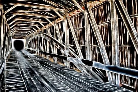 0000252 Covered Bridge Portal to Darknes