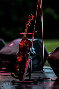 0000258 Violin With Red Stage Lighting.j