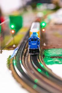 Conrail Model Train Engine On the Move 2