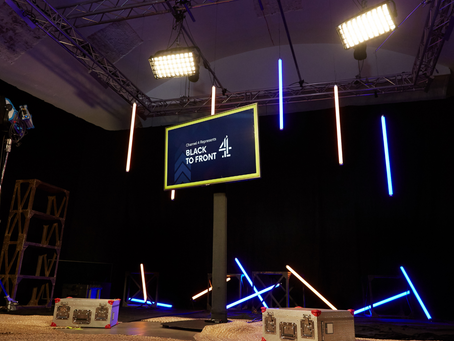 Behind the scenes of a studio-based online event for Channel 4.