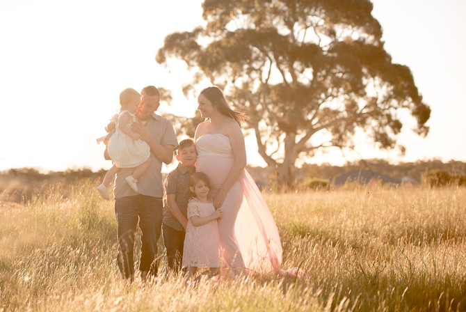 Sunset Family Maternity Photo Session - Adelaide Hills