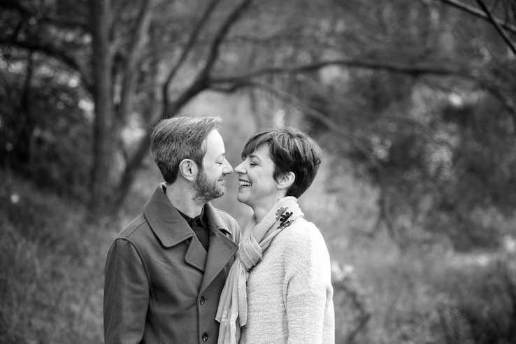 outdoor couple family photo