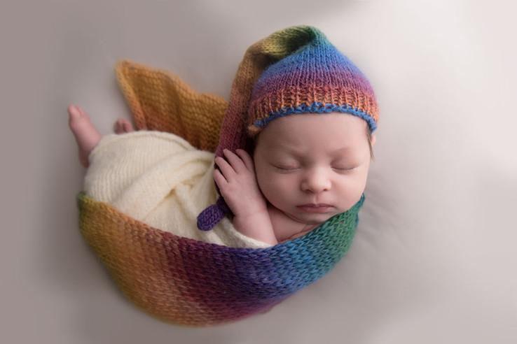 newborn baby studio photo portrait