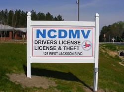 NCDMV road Sign 2